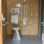 Tarland Community Garden _ Wheelchair accessible composting toilet