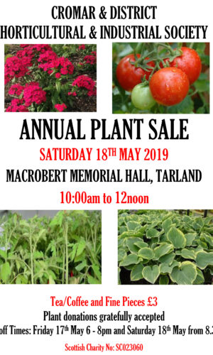 2019 CDHIS Plant Sale Poster